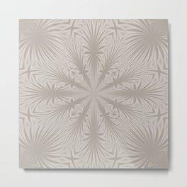 Silver Drapery Metal Print