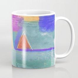 Colorful Abstract Digital Painting Coffee Mug