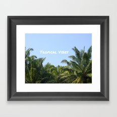 TROPICAL VIBES Framed Art Print