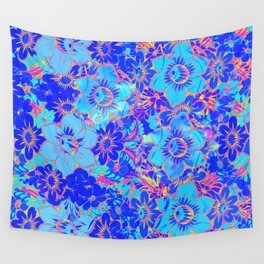 Flowers Pattern 3 QR Wall Tapestry