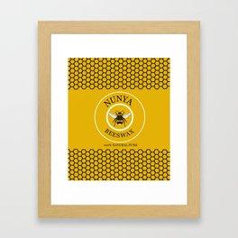 Nunya Beeswax Framed Art Print