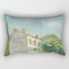 Restaurant Rispal at Asnieres by Vincent van Gogh Rectangular Pillow