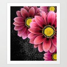 zany flowers Art Print