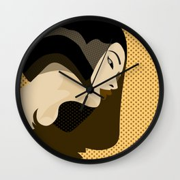 A red-haired woman4 Wall Clock