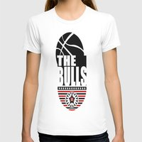 chicago bulls T-shirts featuring THE BULLS  by Robleedesigns