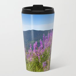 The Lupines in the Hills Travel Mug