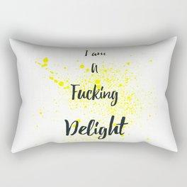 I Am A Fucking Delight Rectangular Pillow