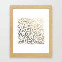 GOLD LEO Framed Art Print
