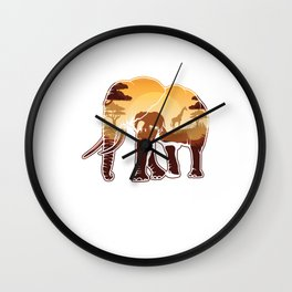 Elephant Safari Animals Zoo Zookeepers Rescue Animal Nature Veterinarian Forest Gift Wall Clock