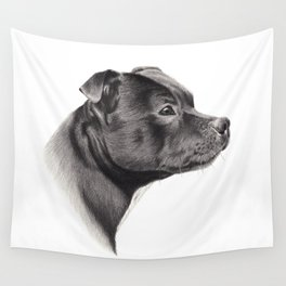 Staffy Wall Tapestry