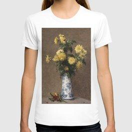 Henri Fantin-Latour - Yellow Chrysanthemums T-shirt