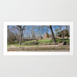 Cherokee Nation - Hendricks Spring, the Site Selected for Seminary Hall, after the first burned, #1 Art Print