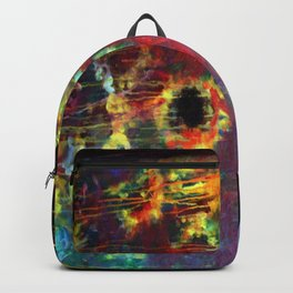 FIERY SUNS ABSTRACT DESIGN Backpack