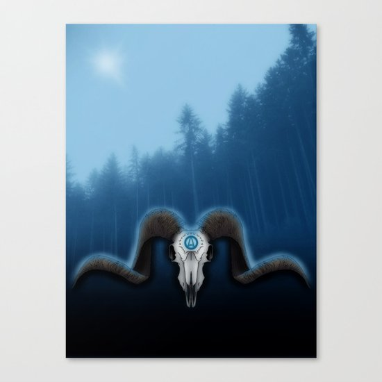 Wet Horns Canvas Print