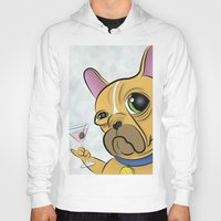 frenchie Hoodies featuring Frenchie by Kandus Johnson
