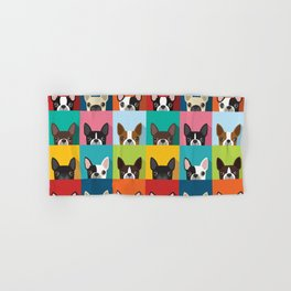 Boston Terrier Pop Art Pattern Hand & Bath Towel