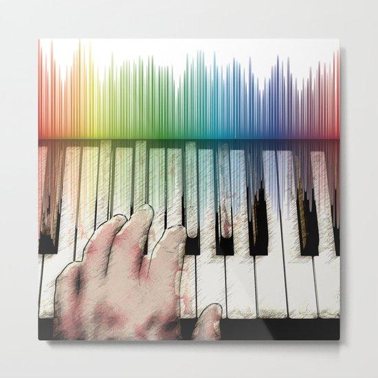 From keyboard to keyboard Metal Print