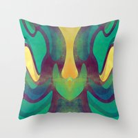 waves Throw Pillows featuring Waves by VessDSign