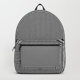 Black and White Micro Houndstooth Check Backpack