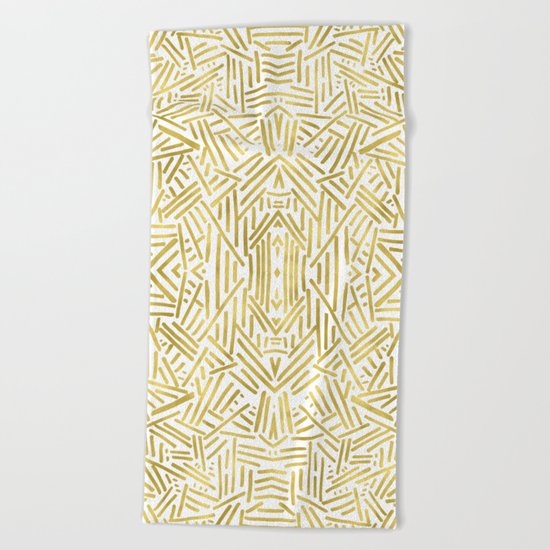 Radiate - Gold Beach Towel