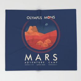 Mars adventure camp Throw Blanket