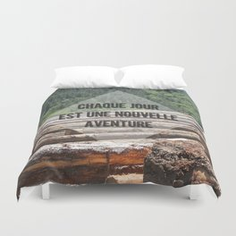 the wood factory II Duvet Cover