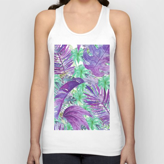 leaves and flowers Unisex Tank Top
