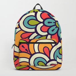 Mandala, Colorful Abstract Flower Backpack