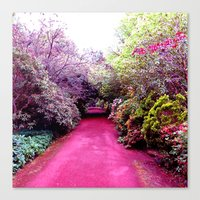 road Canvas Prints featuring Road by haroulita