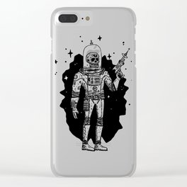 Intergalactic Bone Man Clear iPhone Case