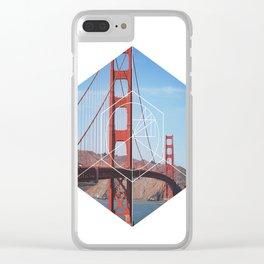 Golden Gate Bridge - Geometric Photography Clear iPhone Case