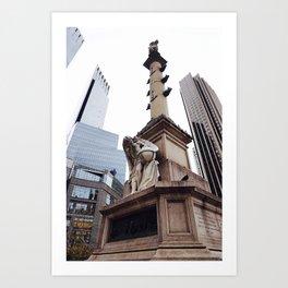 Columbus Circle Art Print