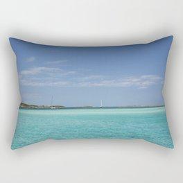 Bahamas Sailing Adventure Turquoise Waters Rectangular Pillow