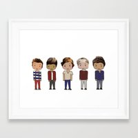 one direction Framed Art Prints featuring One Direction by Paige Norman