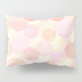 Pink and coral-red dots overprint pattern Pillow Sham
