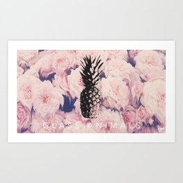 PINEAPPLE MELTED FLOWERS Art Print