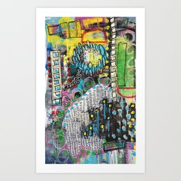 Crazy Abstract Art Print