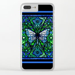 Glass Butterfly Clear iPhone Case