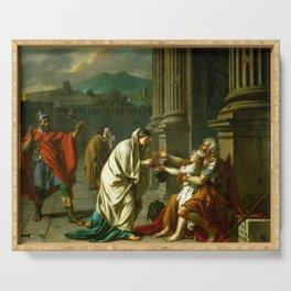 "Jacques-Louis David ""Belisarius asking for alms"" Serving Tray"