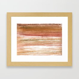 Coconut abstract watercolor Framed Art Print