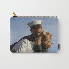 Kissing Sailor And Nurse Portrait Carry-All Pouch