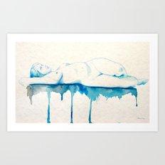 Sueño I watercolor acuarela Art Print