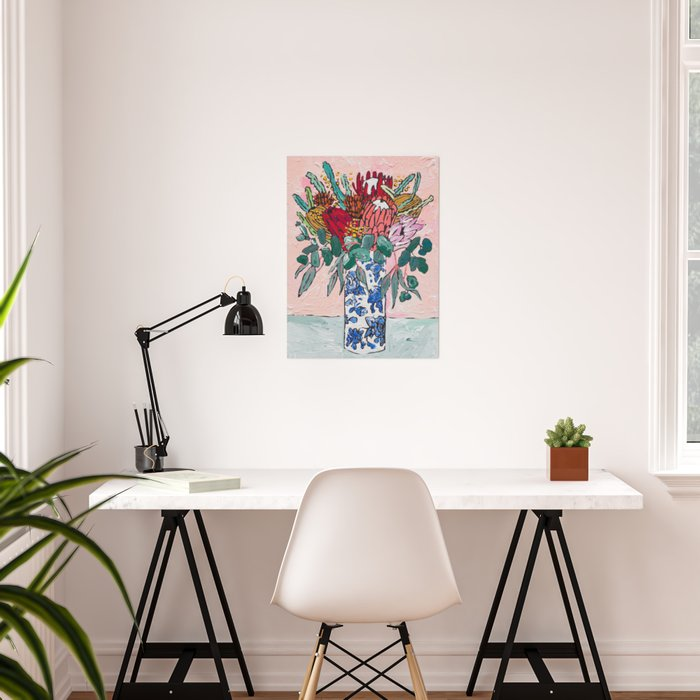 Australian Native Bouquet of Flowers after Matisse Poster