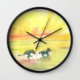 splash of sun Wall Clock
