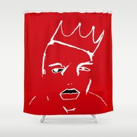 notorious Shower Curtains featuring Notorious Red  by A Beautiful Revolution
