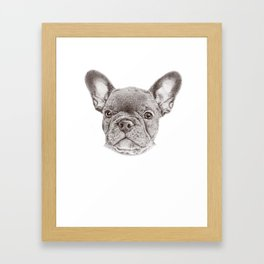 Drawing of french bulldog Framed Art Print