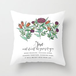 Give Throw Pillow