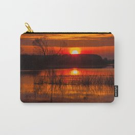 Sundown over Biebrza river in Poland Carry-All Pouch