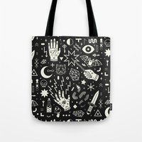 lightning Tote Bags featuring Witchcraft by LordofMasks