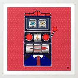 Poker Face Art Print